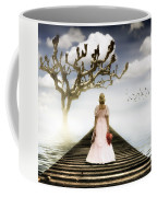 Woman On Pier Coffee Mug by Joana Kruse