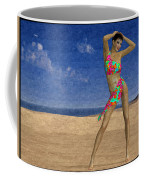 Woman On The Beach... Coffee Mug