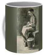 Woman Peeling Potatoes, 1882 Coffee Mug