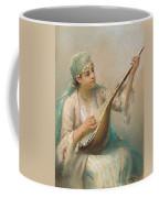 Woman Playing A String Instrument Coffee Mug