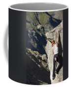 Woman Rock Climbing, India Coffee Mug