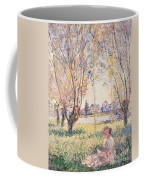 Woman Seated Under The Willows Coffee Mug