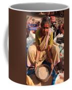 Woman Sifting In A Street Market India Coffee Mug