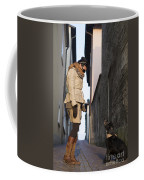 Woman Speak With Her Dog Coffee Mug