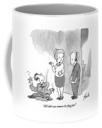 Woman Speaks To Man Coffee Mug