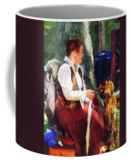 Woman Spinning Yarn At Flea Market Coffee Mug