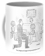 Woman To Man After He Has Just Proposed To Her Coffee Mug