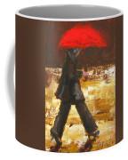 Woman Under A Red Umbrella Coffee Mug by Patricia Awapara