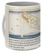 Woman Wading Through Water Coffee Mug by Georges Barbier