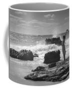 Woman Waving On Shore Coffee Mug