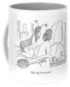 Woman Wearing Silly Headband To Man In Bed Coffee Mug