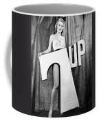 Woman With 7 Up Logo Coffee Mug