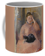 Woman With A Cat Coffee Mug