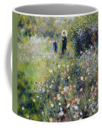 Woman With A Parasol In A Garden, 1875 Coffee Mug
