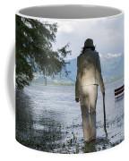 Woman With A Stick Coffee Mug