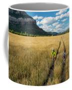 Woman With Daughter Riding Mountain Coffee Mug