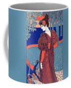 Woman With Peacocks Coffee Mug
