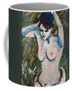 Woman With Raised Arms Coffee Mug