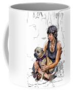 Womans Best Friend Coffee Mug by John Haldane