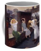 Women Drying Their Hair 1912 Coffee Mug