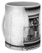 Women In Balcony Coffee Mug
