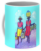Women On Beach At Grenada Coffee Mug