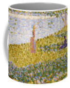 Women On The River Bank Coffee Mug by Georges Pierre Seurat