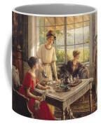 Women Taking Tea Coffee Mug