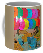 Women Working Together At Borsang Umbrella And Paper Factory In Chiang Mai-thailand Coffee Mug