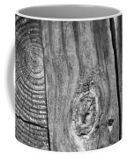 Wood Black And White Coffee Mug