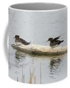 Wood Duck Females On A Log  Coffee Mug