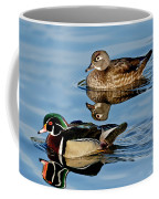 Wood Duck Pair Swimming Coffee Mug