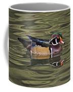 Wood Duck Wade Reflection Beauty Coffee Mug