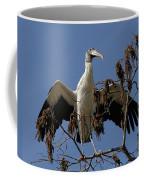 Wood Stork Preparing To Fly Coffee Mug