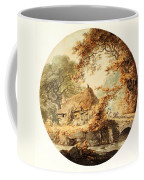 Wooded Landscape With A Cottage Beside A Bridge Coffee Mug
