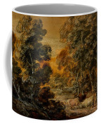 Wooded Landscape With Herdsman And Cattle Coffee Mug