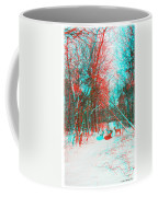 Wooded Path - Use Red And Cyan Filtered 3d Glasses Coffee Mug