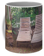 Wooden Beach Chairs Coffee Mug
