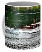 Wooden Boat With Skiff Coffee Mug