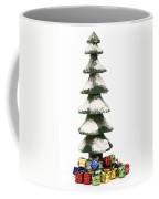 Wooden Christmas Tree With Gifts Coffee Mug
