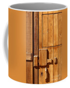 Wooden Door Detail Coffee Mug by Carlos Caetano