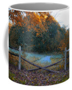 Wooden Fence In Autumn Coffee Mug