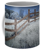 Wooden Fence Of A Friesian Horse Pasture On Windmill Island Coffee Mug