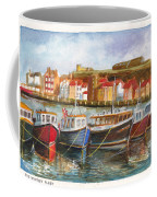 Wooden Fishing Boats In The Whitby Fleet Of Northern England Coffee Mug