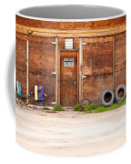 Wooden Gate Of Rural Timber Building Closed Sign Coffee Mug
