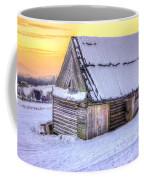 Wooden Hut In Sunset Coffee Mug