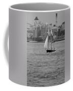 Wooden Ship On The Water Coffee Mug