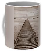 Wooden Slipway Rhos On Sea Coffee Mug