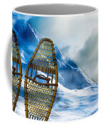 Wooden Snowshoes  Coffee Mug