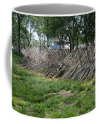 Wooden Spiked Fence Coffee Mug